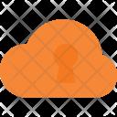 Lock Cloud Computing Icon