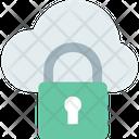 M Cloud Data Secure Cloud Cloud Security Icon
