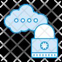 Cloud Server Lock Icon