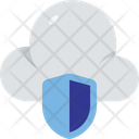 Cloud Computing Cloud Security Icon