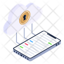 Secure Cloud Mobile Icon