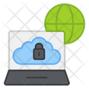 Secure Connected Device Cloud Lock Safety Connected Device Icon