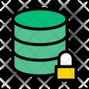 Secure Database Lock Database Database Icon