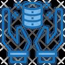 Secure Database Data Big Data Icon