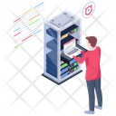 Server Security Secure Database Laptop Server Icon