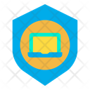 Laptop Shield Secure Device Device Insurance Icon