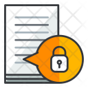 Lock Document Secure Icon