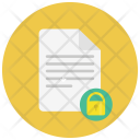 Lock Paper Notes Icon