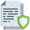 Secure Document Shield Note Icon