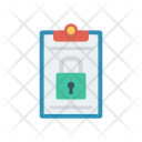 Lock Private Clipboard Icon