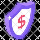 Secure Dollar Dollar Protection Dollar Savings Icon
