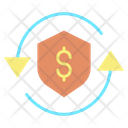 Mprotection Shield Secure Dollar Transaction Exchange Icon