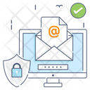Secure Email Electronic Message Envelope Icon