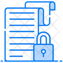 Secure File Locked File File Encryption Icon