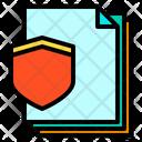 Shield Files Paper Icon