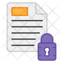 Secure File Secure Paper Protected File Icon