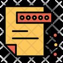 File Password Document Icon