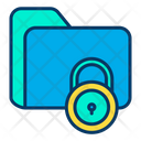 Folder Secure Folder Data Security Icon