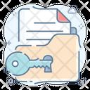 Folder Security Folder Access Secure Document Icon