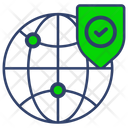 Secure Global Business Protection Icon