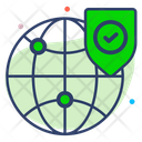 Secure Global Business Icon