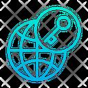 Key Globe Lock Icon
