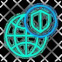 Shield Globe Secure Icon