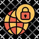 Secure Globe Icon