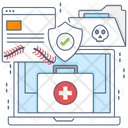 Secure Medication Online Pharmacy Online Medicine Icon