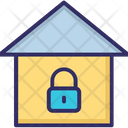 Home Lock Sign Locked House Icon