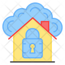 Secure Home Locked Home Home Security Icon