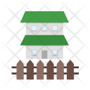 Secure House Fence Icon