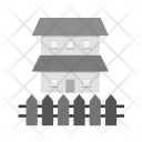 House Fence Secure Icon