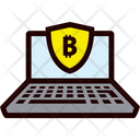 Secure Laptop - Bitcoin Icon
