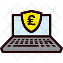Secure Laptop - Pound Icon