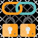 Blockchain Linked Lock Icon