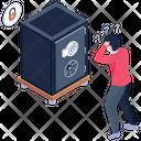 Bank Vault Locker Safe Lock Icon