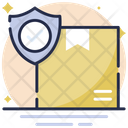 Secure Logistics Shield Shipping Icon