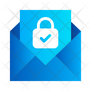 Mail Message Lock Icon
