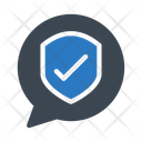 Secure Protection Message Icon