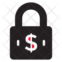Secure Money Dollar Lock Icon