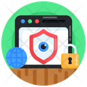 Web Monitoring Secure Monitoring Website Security Icon