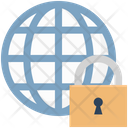 Secure Network Globe Networking Icon
