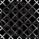 Globe Lock Global Icon