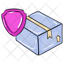 Secure Cardboard Parcel Safety Carton Protection Icon