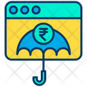 Secure Payment Online Investment Rupees Investment Icon