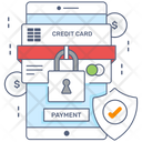 Secure Payment Safe Banking Credit Security Icon