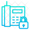Telephone Communication Lock Phone Icon