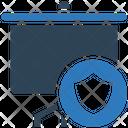 Secure Presentation Presentation Board Icon