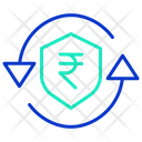 Secure Rupee Transaction Icon